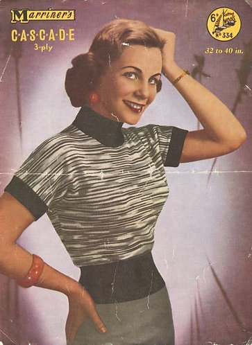 334 ladies jumper Vintage knitting pattern  PDF Download