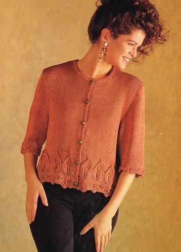 865H ladies cardigan Vintage knitting pattern  PDF Download