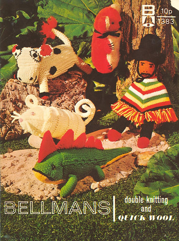1383Bell toy vintage knitting pattern PDF