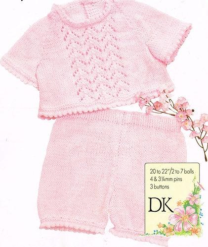 2099H baby jumper set vintage knitting pattern  PDF Download
