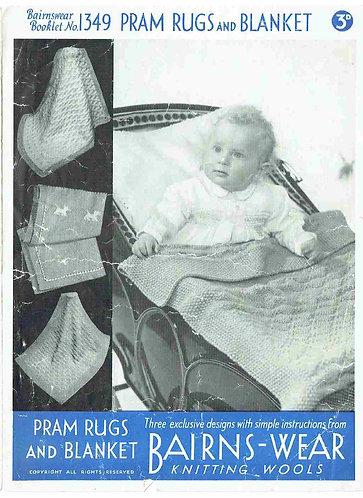 Bairnswear 1349 baby vintage knitting pattern PDF