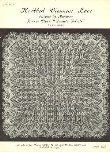 ANP8 viennese lace vintage knitting pattern PDF