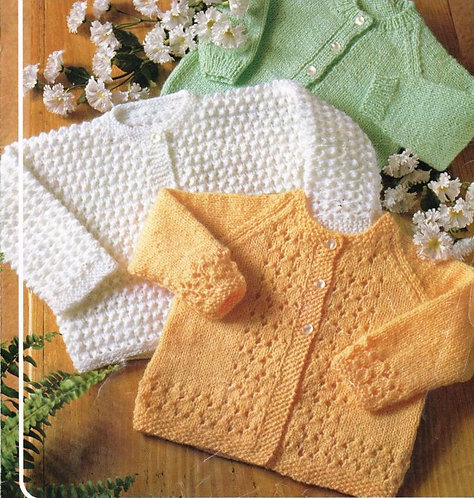 929Ar baby vintage knitting pattern PDF