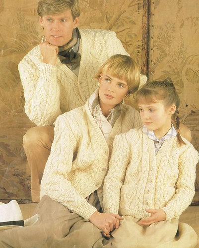 716Ar family vintage knitting pattern PDF