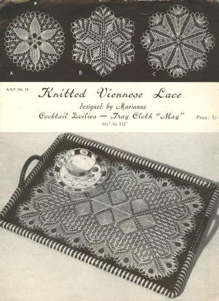 ANP10 viennese lace vintage knitting pattern PDF
