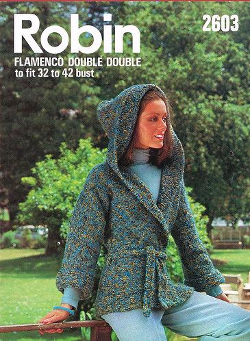 2603R ladies chunky cardigan vintage knitting pattern  PDF Download
