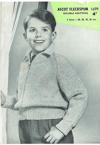Ascot 1699 childrens vintage knitting pattern
