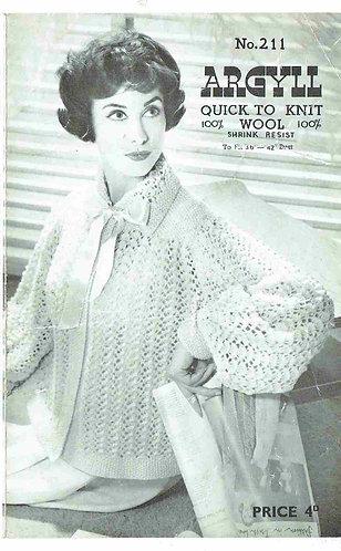211Ar ladies vintage knitting pattern PDF
