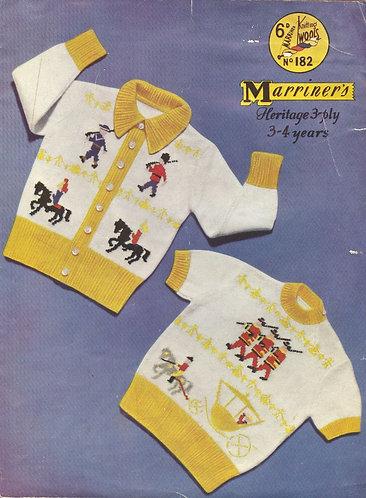 182M royal baby cardigan vintage knitting pattern  PDF Download