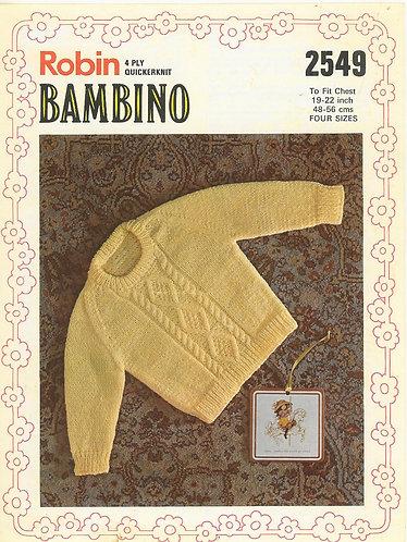 2549R baby jumper vintage knitting pattern  PDF Download