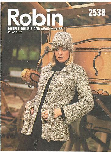 2538R ladies cardigan vintage knitting pattern  PDF Download