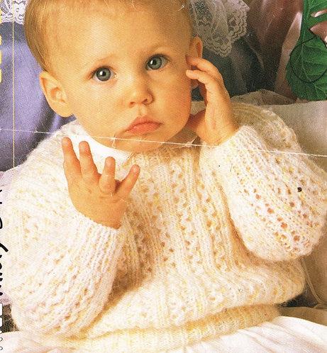 8110P baby vintage knitting pattern PDF