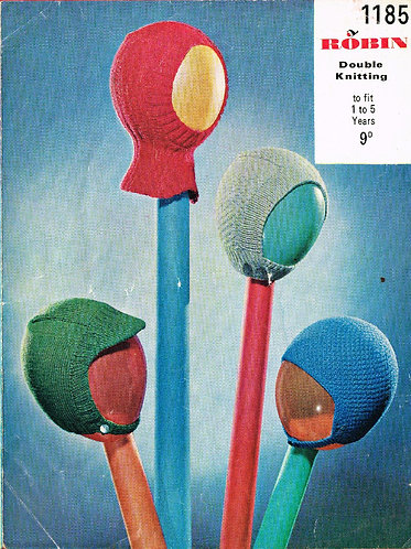 1185R baby hats vintage knitting pattern  PDF Download
