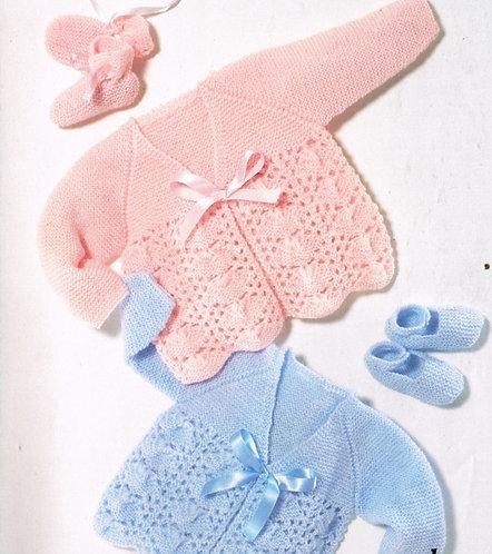 610j baby matinee coat vintage knitting pattern PDF Download