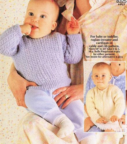 8325P baby jumper vintage knitting pattern  PDF Download