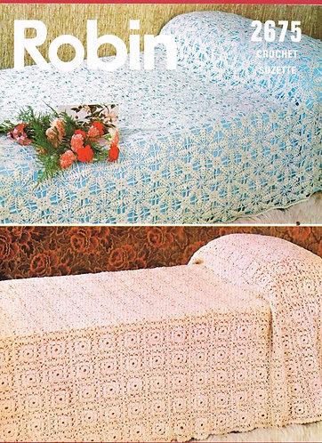 2675R bedspread vintage crochet pattern  PDF Download