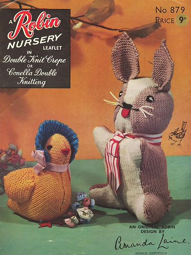 879R toy vintage knitting pattern  PDF Download