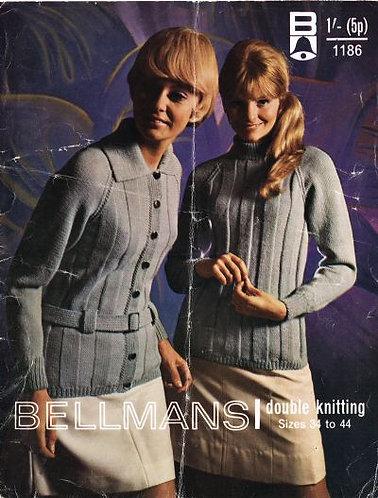 1186Bell ladies vintage knitting pattern PDF