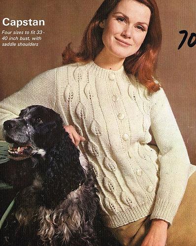 9981P Ladies vintage knitting pattern PDF