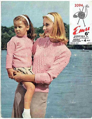2094E Ladies vintage knitting pattern PDF