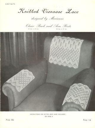 ANP15 viennese lace vintage knitting pattern PDF