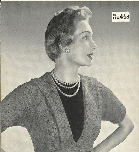 3362 ladies cardigan Vintage knitting pattern  PDF Download