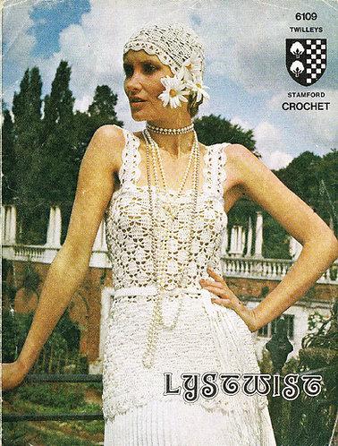 6109T ladies summer top vintage crochet pattern  PDF Download