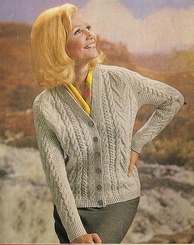 2562S Ladies vintage knitting pattern PDF