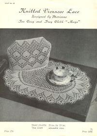 ANP28 viennese lace vintage knitting pattern PDF