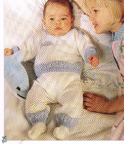 8802P baby jumper set vintage knitting pattern PDF Download