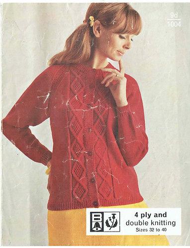 1004Bell ladies vintage knitting pattern PDF