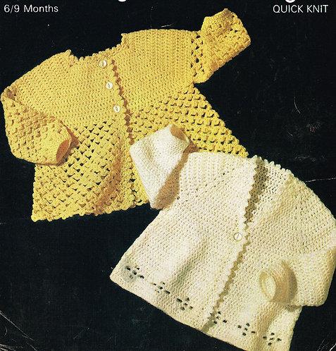3092S baby vintage knitting pattern PDF