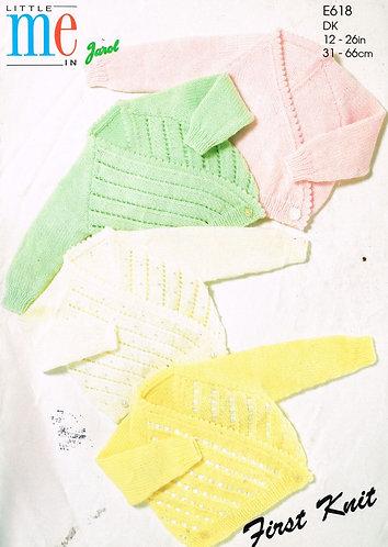 618J baby cardigan vintage knitting pattern  PDF Download