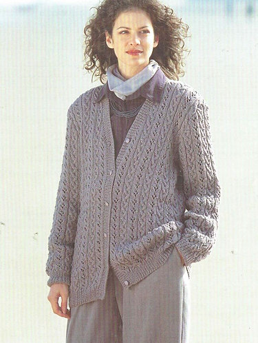 4860 ladies cardigan Vintage knitting pattern  PDF Download
