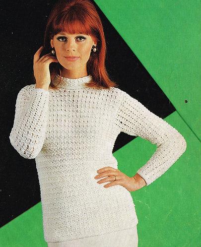 2287S Ladies vintage knitting pattern PDF