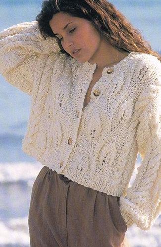4703 ladies chunky cardigan Vintage knitting pattern  PDF Download