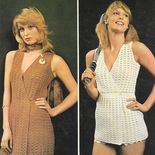 5140T ladies tennis dress vintage crochet pattern  PDF Download