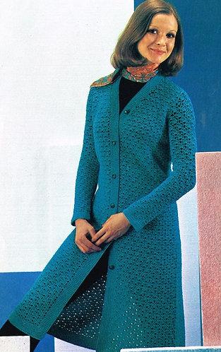 9027Lt ladies vintage crochet pattern PDF