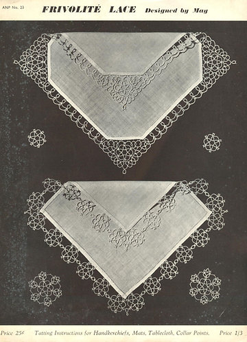 ANP20 tatting vintage pattern PDF