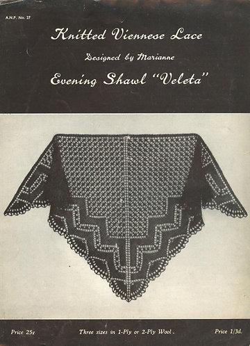 ANP27 viennese lace vintage knitting pattern PDF