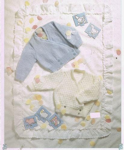 8781P baby cardigans vintage knitting pattern  PDF Download