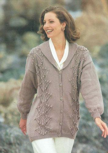 4259H ladies cardigan Vintage knititng pattern  PDF Download