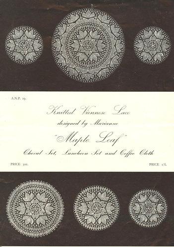 ANP29 viennese lace vintage knitting pattern PDF