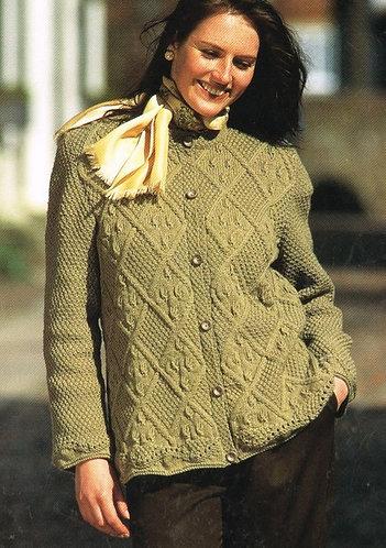4652 ladies cardigan Vintage knitting pattern  PDF Download