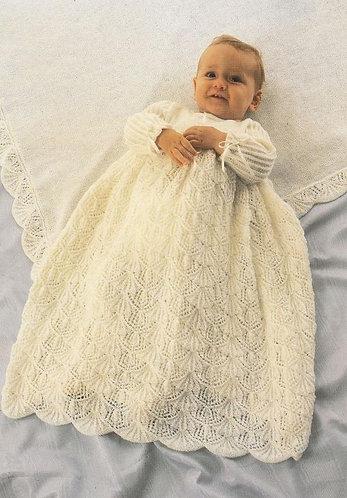 995Ar baby vintage knitting pattern PDF