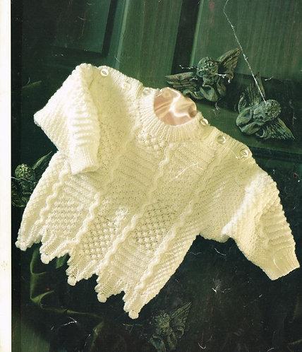 4522H baby jumper vintage knitting pattern  PDF Download
