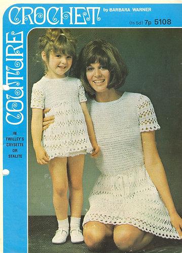 5108Bw ladies vintage crochet pattern PDF