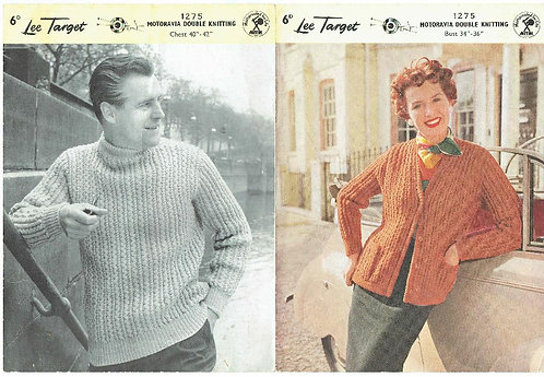 1275Lt ladies cardigan vintage knitting pattern   PDF download