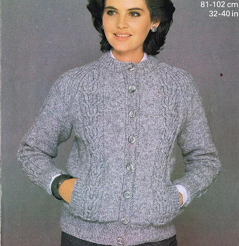 7739P ladies vintage knitting pattern PDF