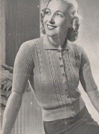 476P ladies cardigan vintage knitting pattern  PDF Download
